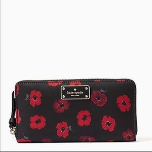 Kate Spade Wilson Road Mini Poppy Neda Wallet.